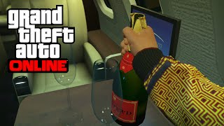 CHAMPAGNE & CIGARES DANS LE LUXOR DELUXE (10.000.000$) - GTA 5 ONLINE