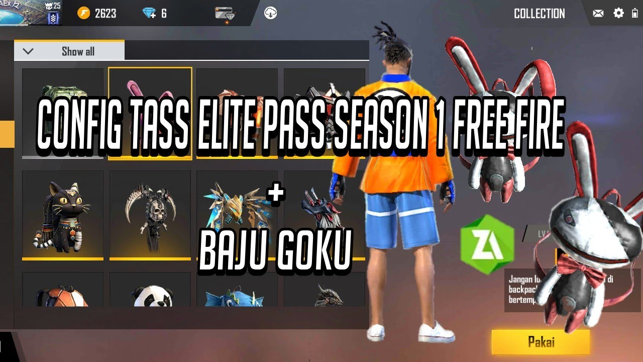 Config Tas Elite Pass Season 1 - Free Fire Indonesia - YouTube