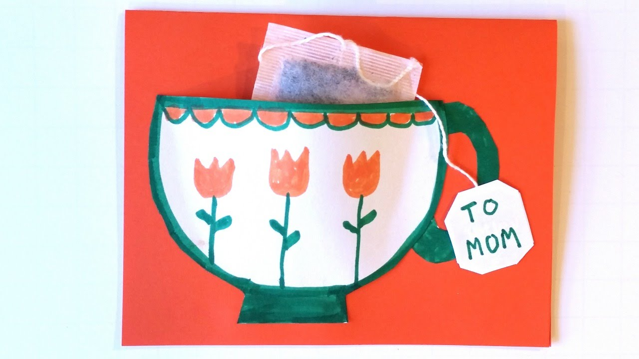 How to Make a Teacup Card - A Cute & Easy Craft for Kids ...