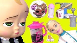 #Barbie Barista КУКЛА БАРБИ КОФЕВАР! Барби Мультики Boss Baby Босс Молокосос LOL Surprise РОЗЫГРЫШ