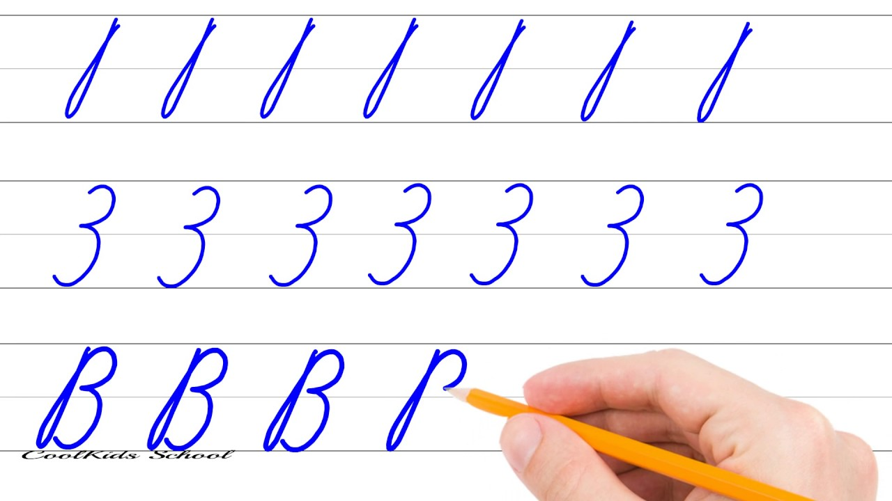 uppercase lowercase letters letter b writing cursive youtube