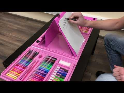 Наборы для детского творчества 176 предметов с мольбертом!