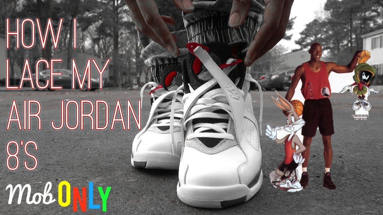 d88f00fcb7945b How I lace My Jordan 8s   On foot in 4k ( Bunny Ears ) - YouTube