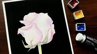 수채화 꽃 그리기: CMYK 장미 / Watercolo…