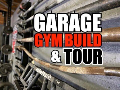 garage gym build  tour  youtube