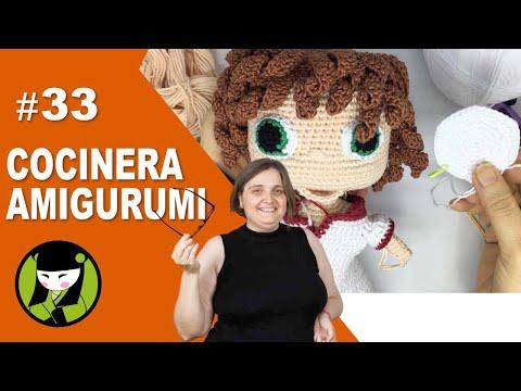 COCINERA AMIGURUMI 33 empezamos el gorro tejido a crochet