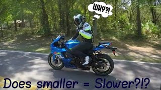 Why a Gsxr 750 after owning a liter bike?