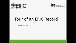 Tour of an ERIC Record