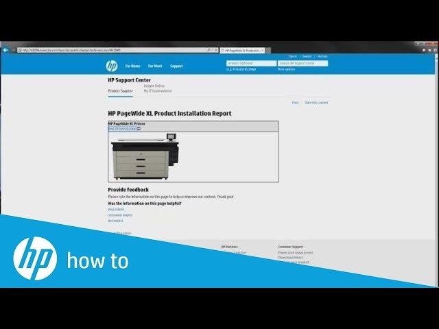 Rejestracja drukarki HP PageWide XL po instalacji urządzenia