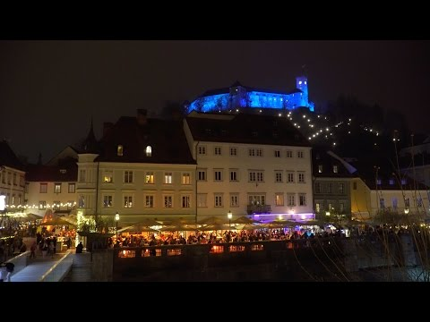 Praznična Ljubljana 2016 (Christmas time in Ljubljana) 4K