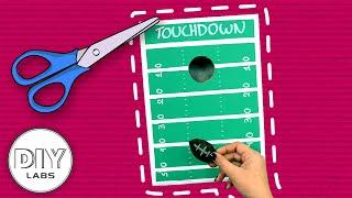 Fast-n-Easy | MINI FOOTBALL Cornhole Game  🏈 Super Bowl CRAFT | DIY Arts & Crafts for Kids