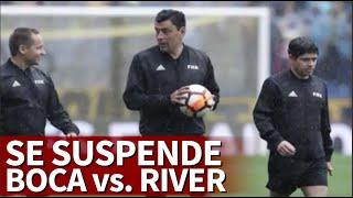Boca River suspendido I La lluvia obliga a suspender la final de la Libertadores I Diario As