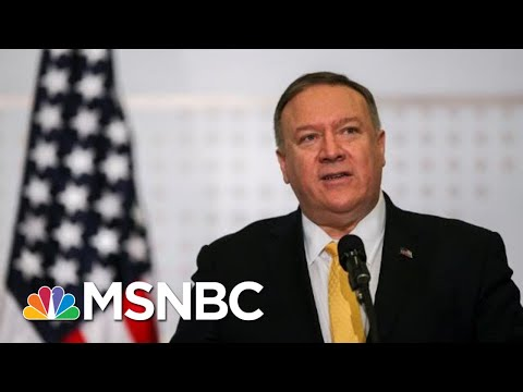 NPR: Mike Pompeo Berated Reporter After Questions On Ukraine | The 11th Hour | MSNBC
