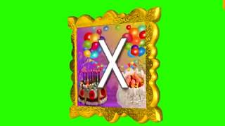 X Name' X Letter 'WhatsApp Status_Green Screen| X letter, 16 Effects chroma key Free Animated | no6