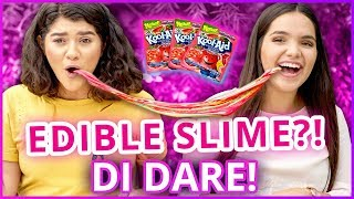 DIY EDIBLE SLIME?! Di Dare w/ Shany & Airam from My Dream Quinceañera!