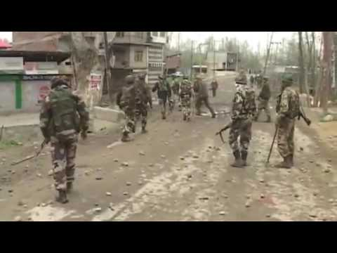 Indian army live encounter 2017 interrupted by stone pelters