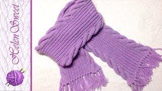 Вязание шарфа. Вязание спицами. Как связать шарф?(ВСЕМ, доброго времени суток. Меня зовут Лена. В этом видео я показываю как связать шарф. Связала я очень быст..., 2016-12-08T18:05:19.000Z)