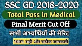SSC GD Final Merit List 2020 | SSC GD Re Medical 2020 | SSC GD Medical Pass Candidate 2020
