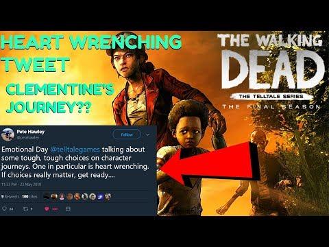 """The Walking Dead:Season 4: """"The Final Season"""" Clementine Heart Wrenching Journey Tweet- (twd s4)"""