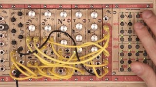 Modular Drum machine - TEA KICK, NOISE SQUARE and SKIS demo, Bastl Instruments modular