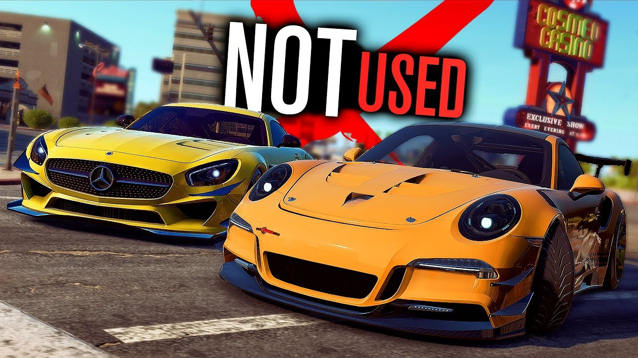 UN-USED CARS In Need for Speed Payback!
