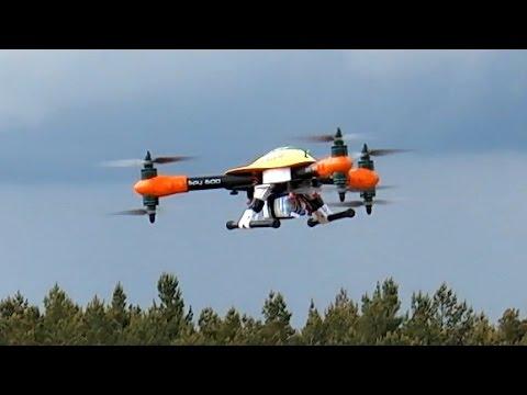 SPY-600 150 KMH 6S HIGH SPEED FLIGHT TRICOPTER HEXACOPTER SKY HERO  *1080p50fpsHD*