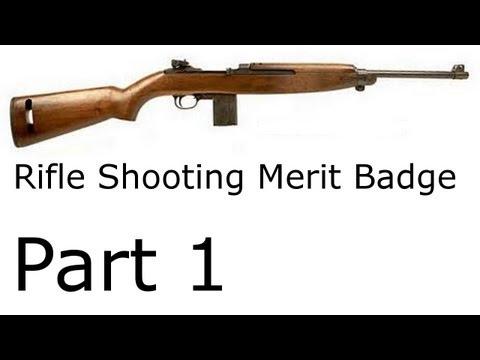 Alex's Rifle Shooting Merit Badge - Part 1 - Handbook and Practice