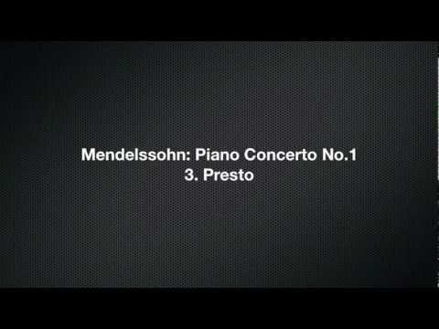 Mendelssohn: Piano Concerto No.1 in G minor Op. 25 3. Presto / Serkin, Ormandy.
