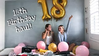 What we got for our 18TH Birthday!!!   HAUL