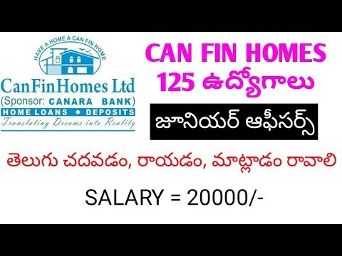 can fin homes limited recruitment for 125 junior officers jobs | job updates in telugu