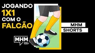 JOGANDO X1 COM O FALCÃO ⚽ #Shorts