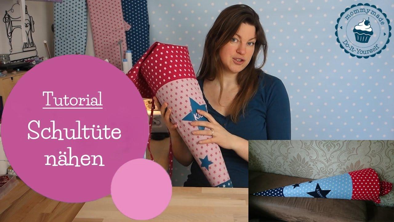 Schultüte Nähen Zuckertüte Tutorial Diy Nähanleitung Mommymade