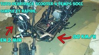 Facile: Débridage de scooter 4temps au vario 80km/h