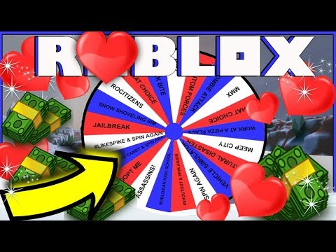 ROBLOX | SPIN THE WHEEL | CHAT CHOICE | PLAYING MANY GAMES | VALENTINE'S DAY!