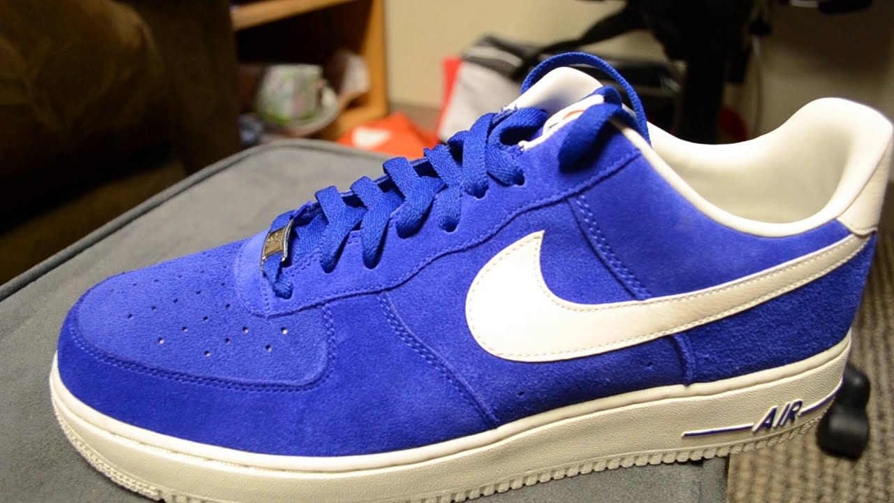 nike air force 1 low blue suede