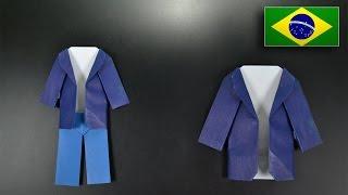 Origami: Casaco - Instruções em Português BR