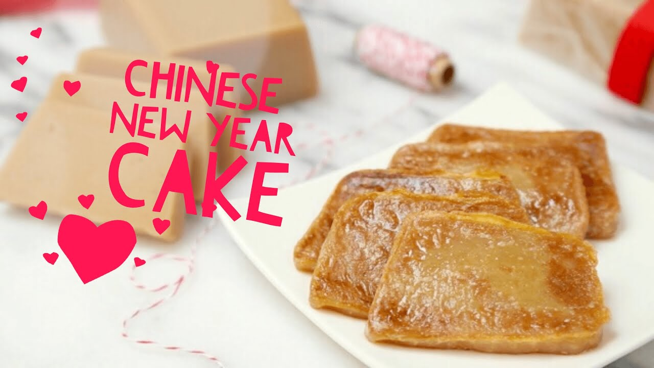 How to Make Chinese New Year Cake Nian Gao (Sticky Rice Cake)