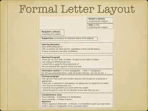 Ecrire Une Lettre Ou Un Email Au Bac D Anglais 2019 Youtube