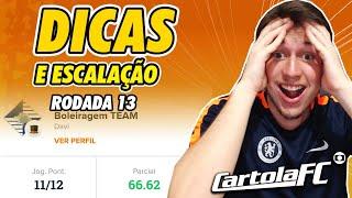 DICAS DO CARTOLA FC 2019 - 13ª RODADA   904 PONTOS NACIONAL