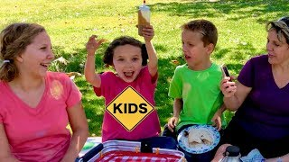 Picnic Mystery Sauce Challenge with Sign Post Kids!
