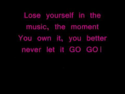 Eminem - Lose Yourself with lyrics - YouTube