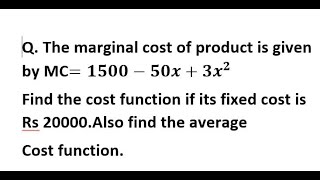 Application of Integration full concept & 1 important question 4 BBA/class 12 business math student