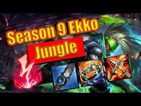 Season 9 Ekko jungle Gameplay!