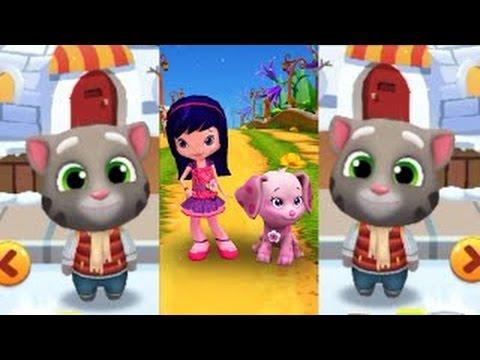 FROSTY TOM Vs Cherry Jam/My Talking Tom Gold Run Vs Strawberry Berry Rush/Gameplay for kid