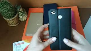 Обзор кожаного чехла книжки для Xiaomi Redmi 4x