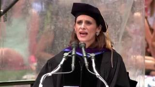 Honorary degree recipient ligia bonetti du breil '89, gives her remarks to the class of 2016.