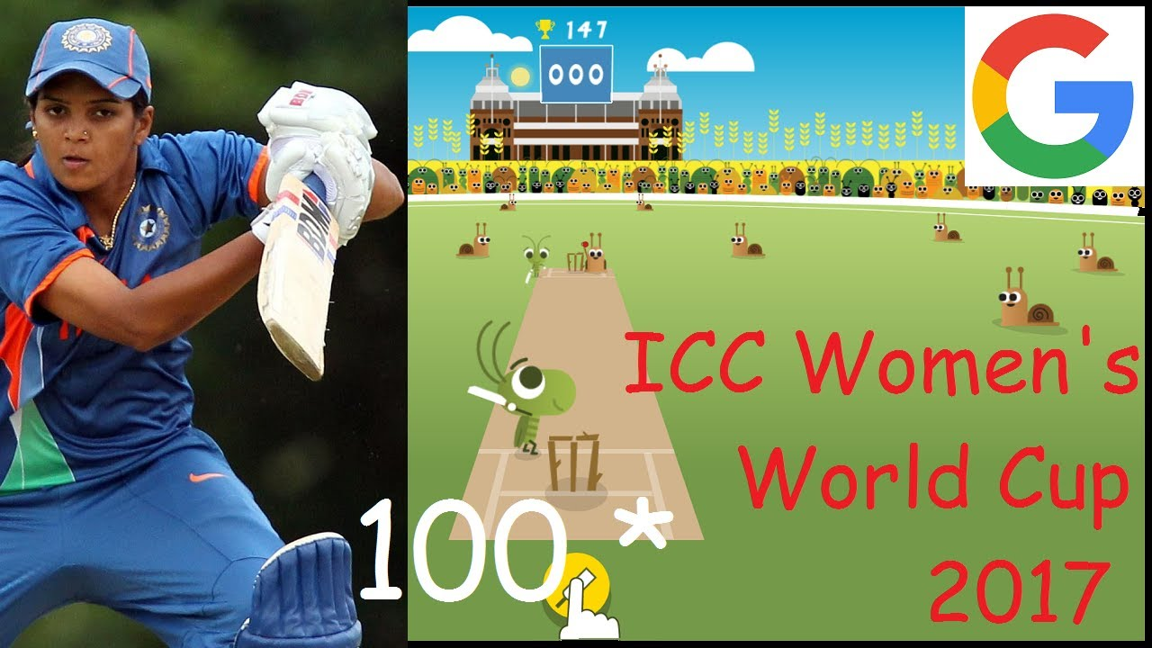Playing Google S Cricket Game Doodle For Icc 2017 Women S Cricket World Cup