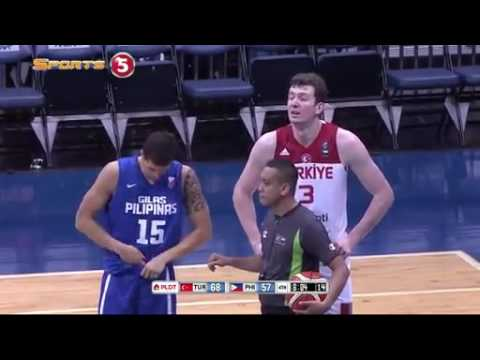 FIBA  Philippines Vs Turkey 2016- Marc Pingris and Omer Asik go FACE TO FACE 2016 -