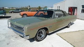 1968 Plymouth Sport Fury 383 V8 Four Speed Convertible Rare Muscle Car