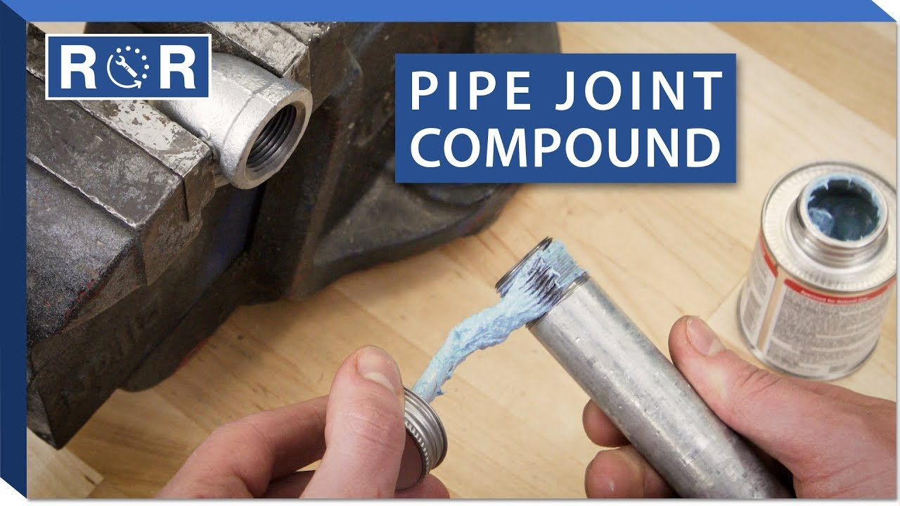 How To Use Pipe Joint Compound Repair And Replace Youtube